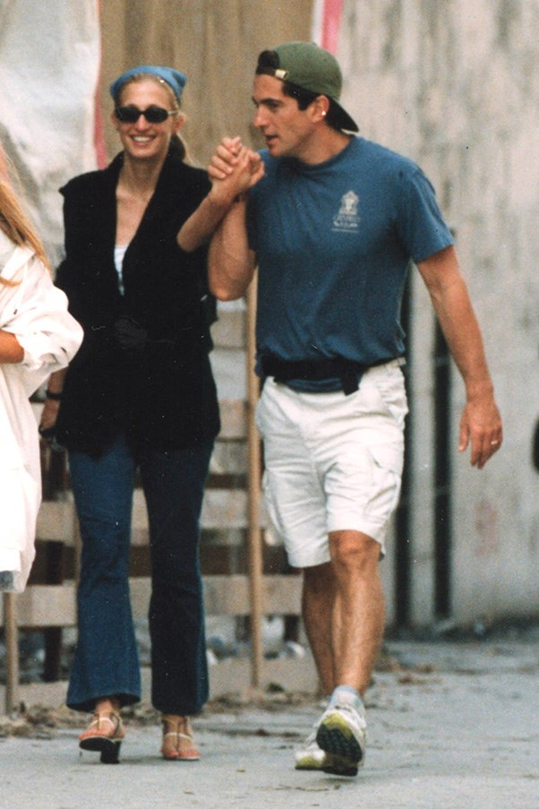 Out in New York with husband John F. Kennedy Jr., 1997