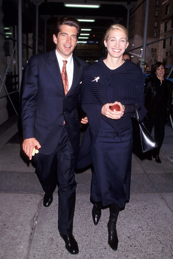 At a breast cancer benefit in New York with husband John F. Kennedy Jr., 1998