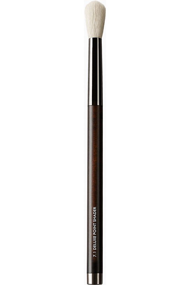 """Rae Morris Deluxe Point Shader Brush, $31.20, at <a href=""""https://raemorris.com/product/brush-7-1-deluxe-point-shader-synthetic/""""> RaeMorris.com</a> (One of many in the online collection.)"""
