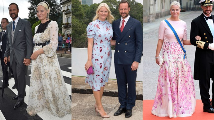 <strong>Mette-Marit, Crown Princess of Norway</strong> <br><br> After marrying into the Norwegian royal house in 2001, Mette-Marit became known for her love of flowing printed dresses and favoring  headbands over tiaras.