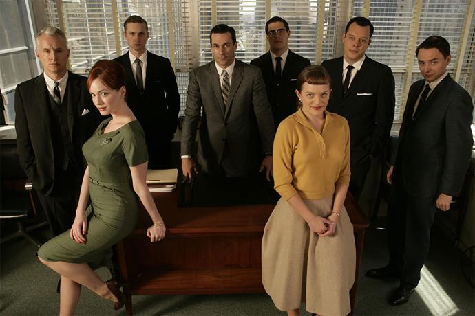 <em><strong>Mad Men</strong></em> <br><br> We're coming closer to present day with <em>Mad Men</em>, but audiences were captivated by the intersecting personal and professional drama of the employees at fictional advertising agency Sterling Cooper in the 1960s. This show was also responsible for turning the likes of Jon Hamm and January Jones into household names.