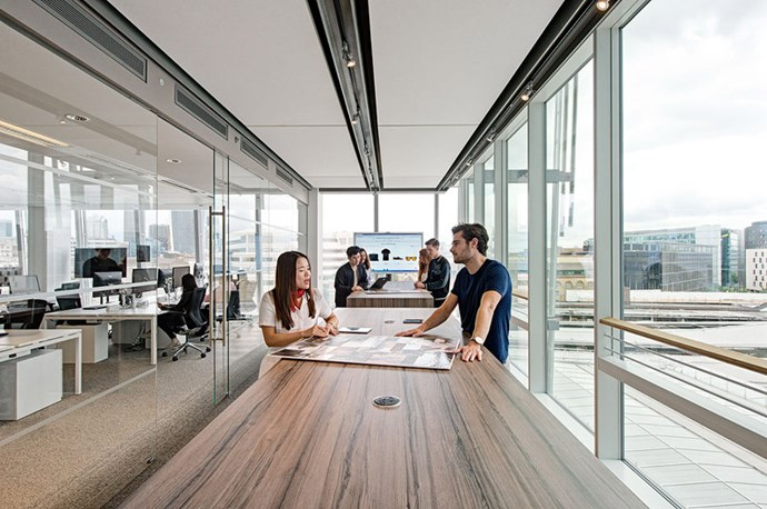 "<strong>What was your goal with the interior aesthetic of the office? </strong> <br><br> <em>""As a brand that has become known for a modern luxury experience, it was important that the office exemplified this. The space has been designed with a clean modern palette, yet still is very much in the style of Matches Fashion. The details for the space were very considered, right down to coffee mugs in our signature marble print. Essentially, we have created a luxury fashion trading floor – every department feels connected to the business via banks of screens throughout the space which share key performance metrics - measuring engagement on the site, up to the minute performance, delivery timings. As a global 24 hour business, this real time visibility is essential for our staff.""</em>"