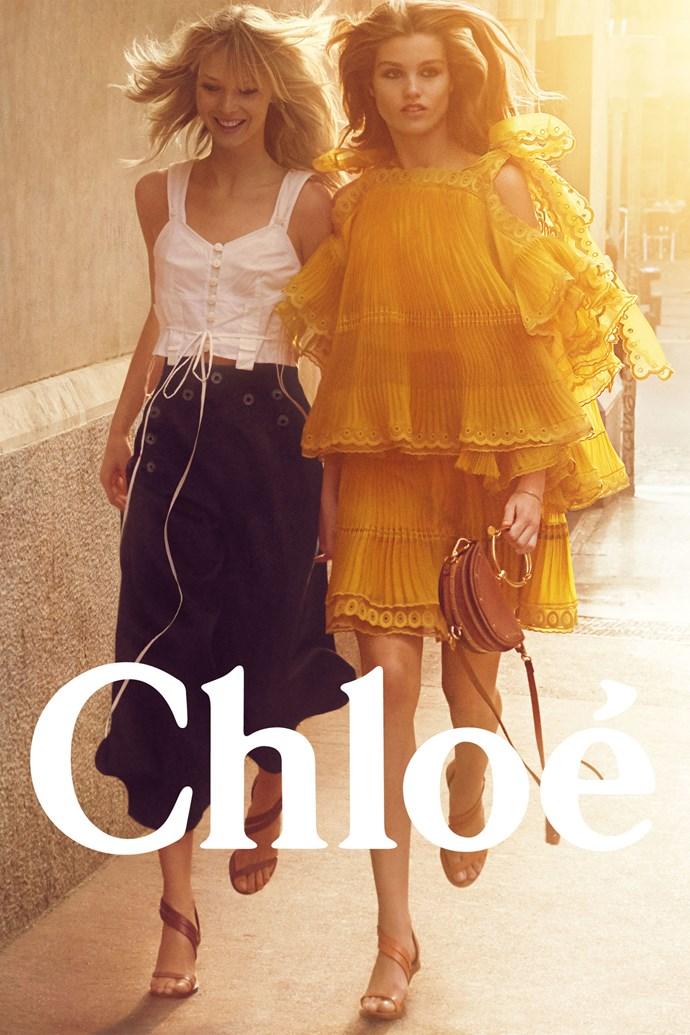 <strong>Chloé</strong> <BR><BR> Modelled by Luna Bijl and Ukrikke Hoyer, shot by Charlotte Wales.
