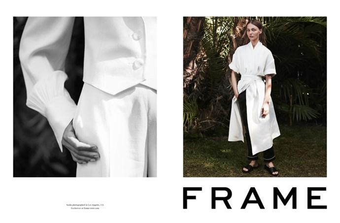 <strong>Frame</strong> <BR><BR> Modelled by Sasha Pivovarova, shot by Frik Torstensoon.
