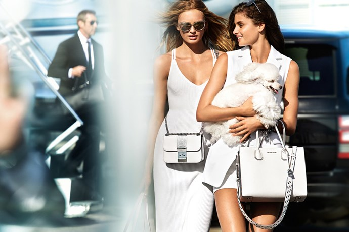 <strong>Michael Kors</strong> <br><BR> Modelled by Romee Strijd and Taylor Hill, shot by Mario Testino.