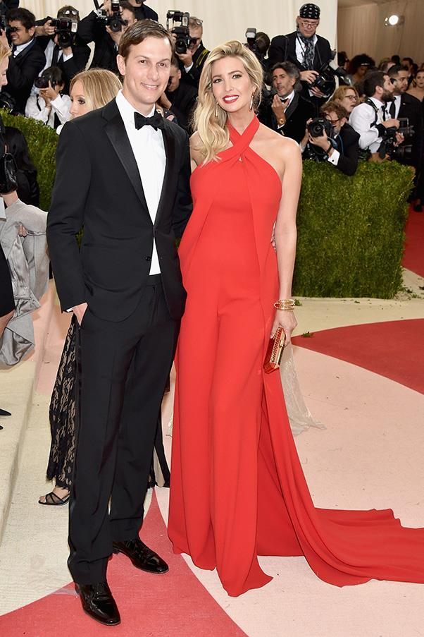 In Ralph Lauren with husband Jared Kushner at the Met Gala, May 2016.