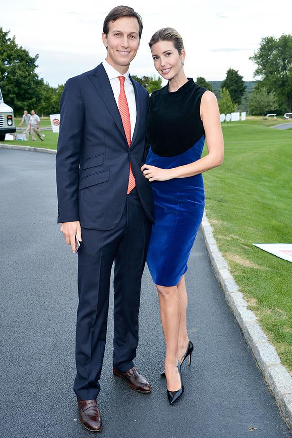 With husband Jared Kushner at an Eric Trump Foundation event, September 2015.