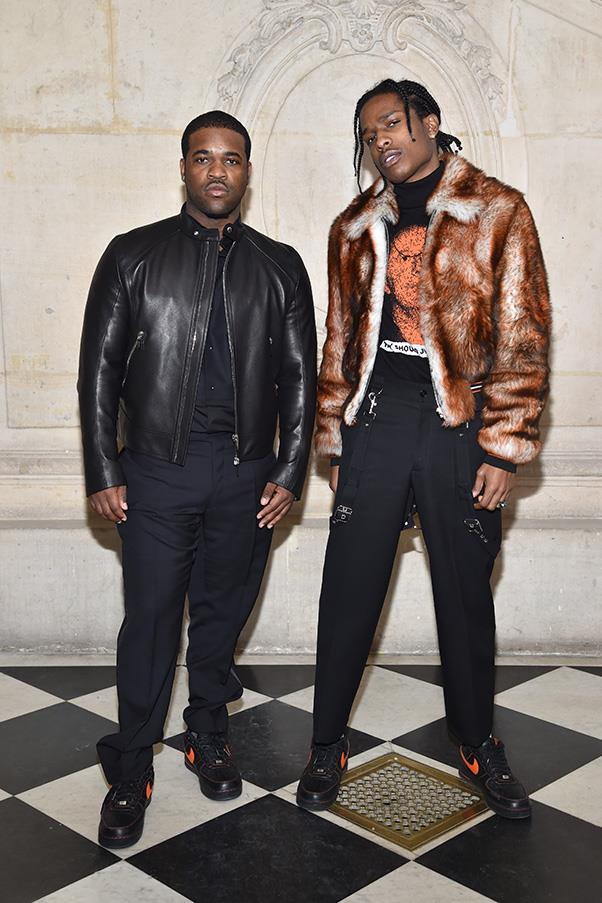A$AP Ferg and A$AP Rocky in Dior Homme