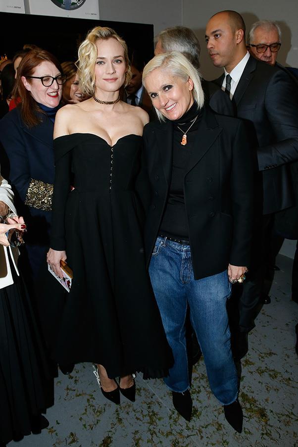 Diane Kruger and Maria Grazia Chiuri