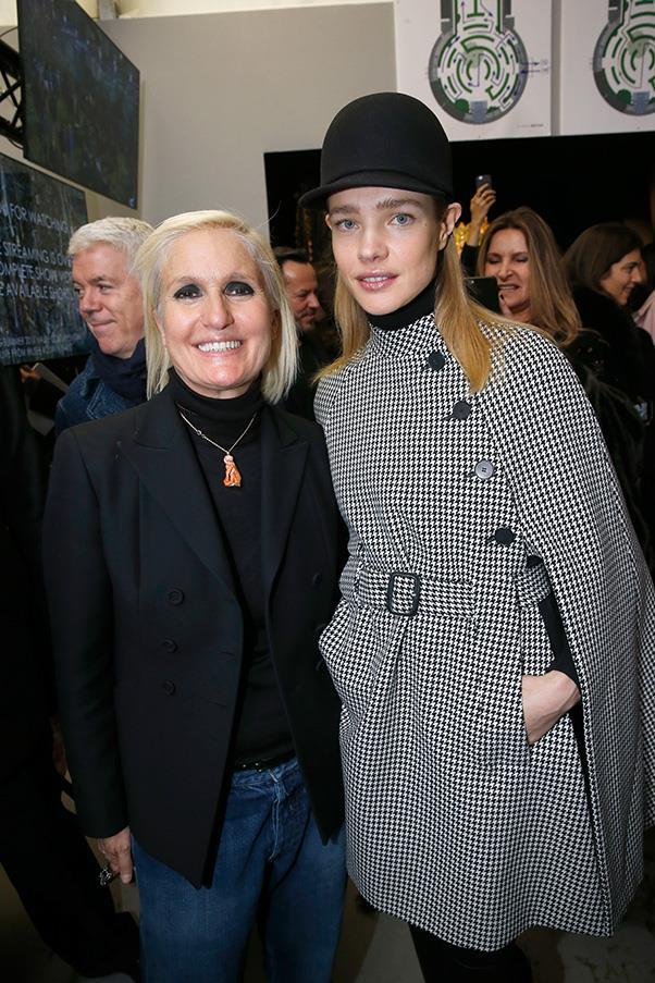 Maria Grazia Chiuri and Natalia Vodianova