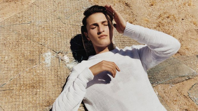 <strong>Hugo Boss</strong> <BR><BR> Modelled by Anwar Hadid, shot by Harley Weir.
