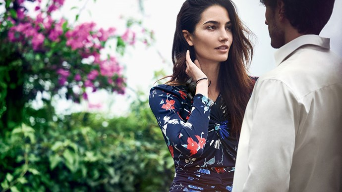 <strong>Salvatore Ferragamo</strong> <BR><BR> Modelled by Lily Aldridge, Andres Velencoso and McKenna Hellam, shot by Peter Lindbergh.