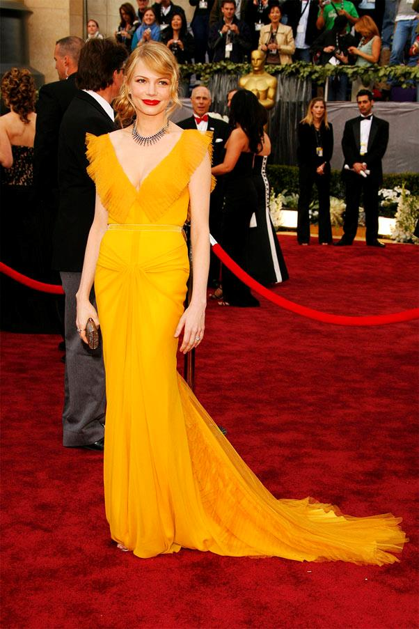 <strong>2006:</strong> <br><br> Michelle Williams in Vera Wang