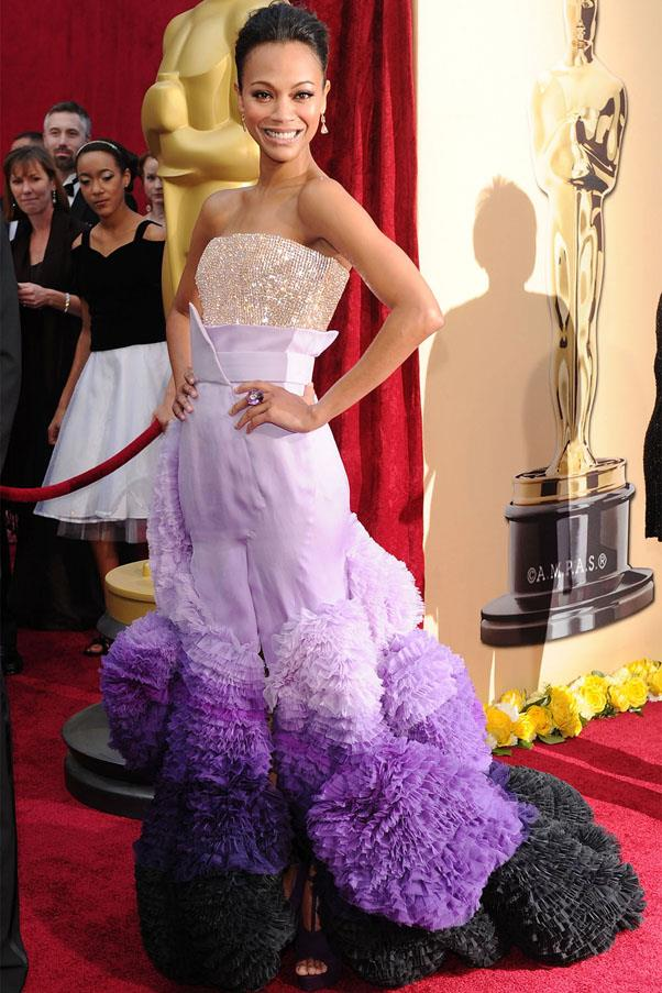 <strong>2010:</strong> <br><br> Zoe Saldana in Givenchy Haute Couture