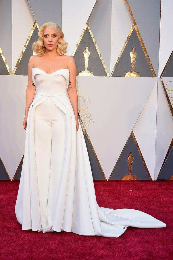 <strong>2016:</strong> <br><br> Lady Gaga in Brandon Maxwell