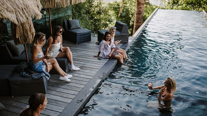<strong>2. Be strategic with your music</strong><br><br> To ease us into the new year, I had jazz music playing in the background. It made for a really relaxed vibe with guests lounging by the pool.