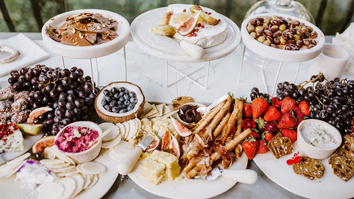 <strong>4. Make the food and drink spread Instagram friendly</strong><br><br> My biggest tip is to make sure the food looks as mouthwatering as it tastes, it's all about presentation!