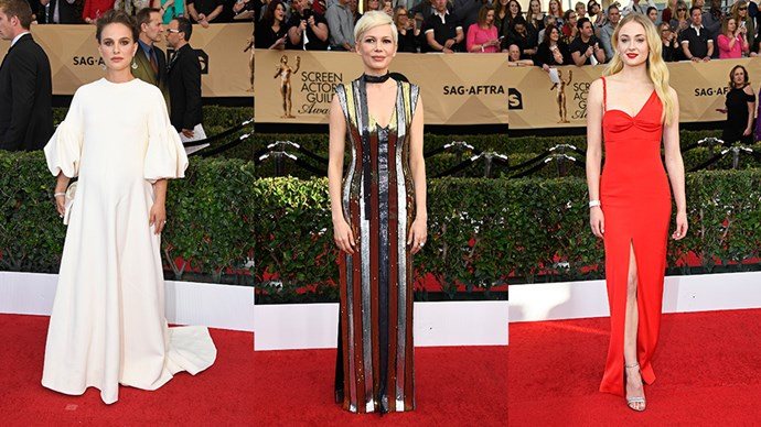 The best-dressed guests from the 2017 Screen Actors Guild awards red carpet.
