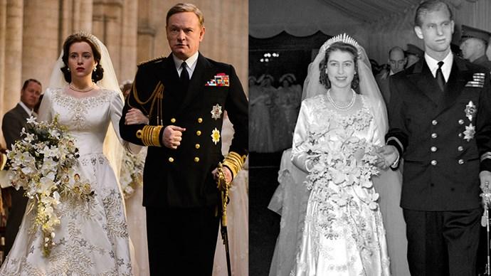 The Crown wedding scene