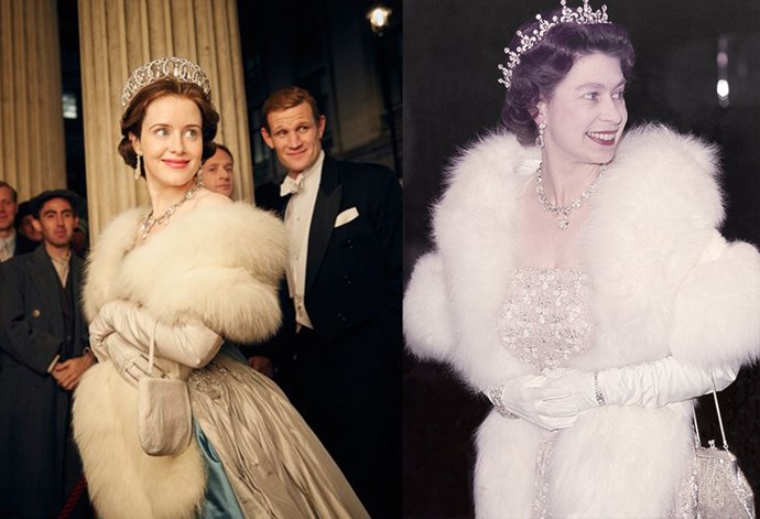 <strong>Claire Foy as Queen Elizabeth II</strong>
