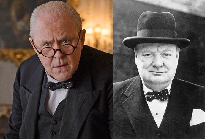 <strong>John Lithgow as Winston Churchill</strong>