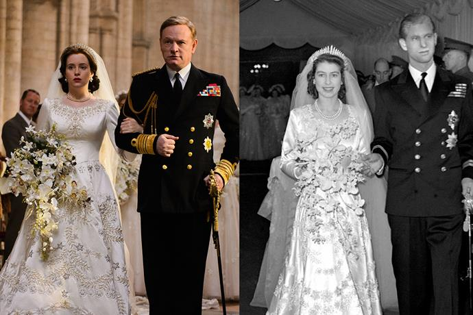 No need to keep checking your phone every time a new character is introduced - here's a side-by-side comparison of the cast of <em>The Crown</em> and their real-life royal counterparts.
