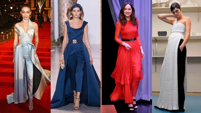 Wearing a dress over trousers is nothing new – it's a trend that seems to make a comeback every couple of years. However, if you've been keeping a close eye on the couture catwalks, you will have noticed that the dress/trouser trend has gone a step further and merged into one hybrid item: the drouser.