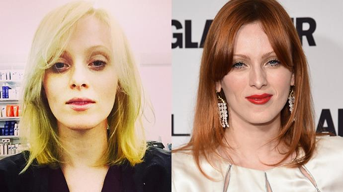 <strong>Karen Elson</strong><br><br> Quite the opposite to Jessica Stam, Karen Elson found fame when she swapped her natural blonde for her now-signature red. Legend has it Steven Meisel gave her an ultimatum when he shot her back in '98: dye your hair black or red. The rest, as they say, is history.