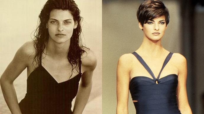 """<strong>Linda Evangelista</strong><br><br> Supermodel Linda Evangelista's haircut by Julien d'Y is now a relic of fashion history. Namely because the whole process <a href=""""https://www.google.com.au/search?q=linda+evangelista+haitcut+peter+lindbergh&espv=2&biw=1920&bih=990&source=lnms&tbm=isch&sa=X&ved=0ahUKEwjA7vev0vDRAhULjZQKHfANACcQ_AUIBigB#tbm=isch&q=linda+evangelista+haircut+peter+lindbergh"""">was snapped by Peter Lindbergh</a>, including the moment Linda started crying straight afterwards. It goes without saying that the chop paid off."""