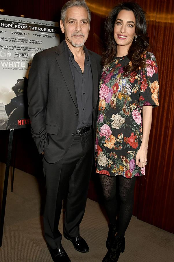 <strong>What:</strong> A short, floral dress with tights and boots. <BR><BR> <strong>When:</strong> January 9th, 2017 <BR><BR> <strong>Where:</strong> To a special screening of Netflix's <em>The White Helmets</em>.