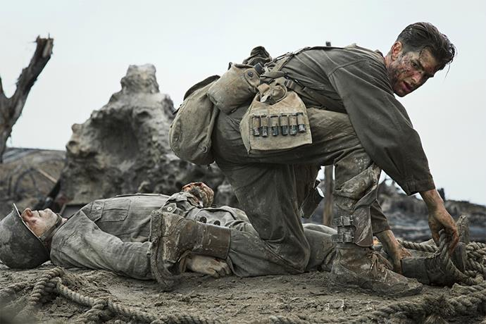 <em><strong>Hacksaw Ridge</strong></em> <br><br> Hacksaw Ridge is the true story about Desmond T. Doss (Andrew Garfield), a conscientious objector who saved 75 men in Okinawa during WWII without firing a single shot. <br><br> <em>Hacksaw</em> Ridge is still showing in a few select cinemas (it came out in November last year).