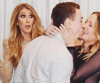 celine dion proposal photobomb