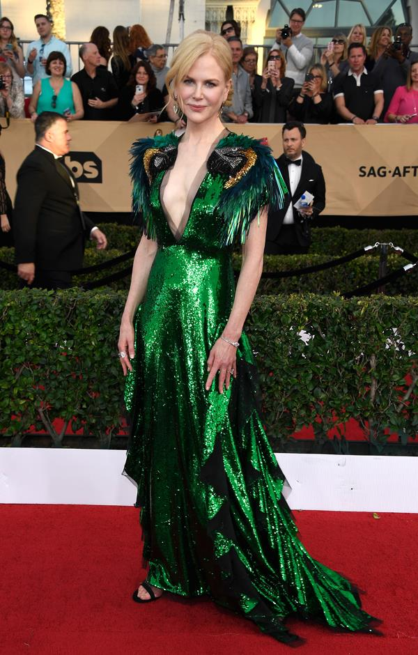 In Gucci at the Screen Actors Guild Awards.