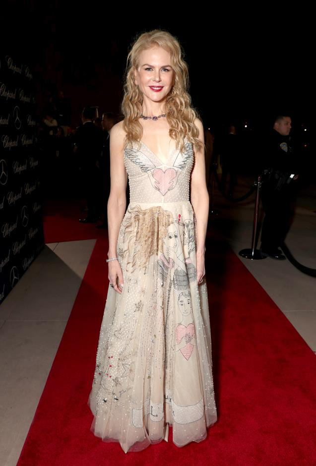 In Christian Dior at the Palm Springs Film Festival Awards Gala.