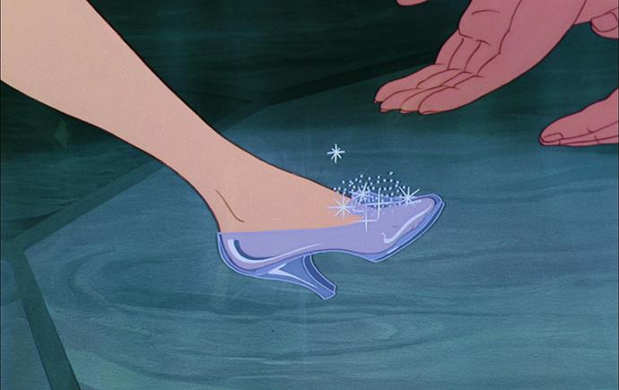 Cinderella's glass slipper in *Cinderella* (1950)