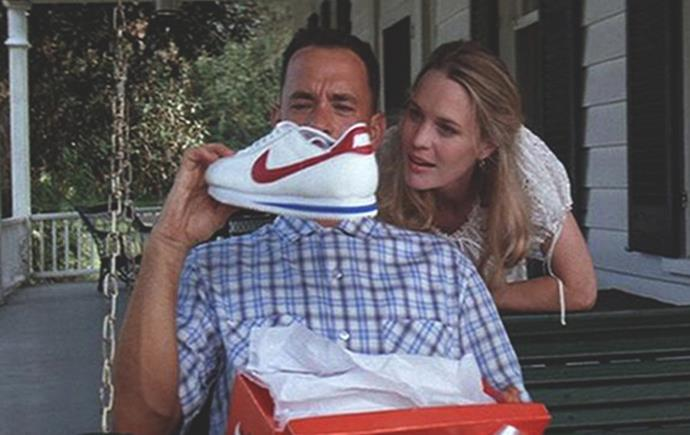 Forrest Gump's Nike 'Cortez' sneakers in *Forrest Gump* (1994)