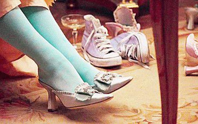 Marie Antoinette's embellished slippers in *Marie Antoinette* (2006)