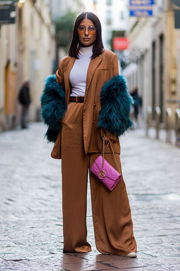 <strong>Embrace the trouser suit</strong> <br><br> Bianca Jagger had it right all those years ago. The trouser suit has an air of nonchalant cool that traditional wedding guest dresses don't. Choose a style in burgundy or navy during the winter months and team with strappy heels and a camisole. In summer, styles in pastels are a great option.