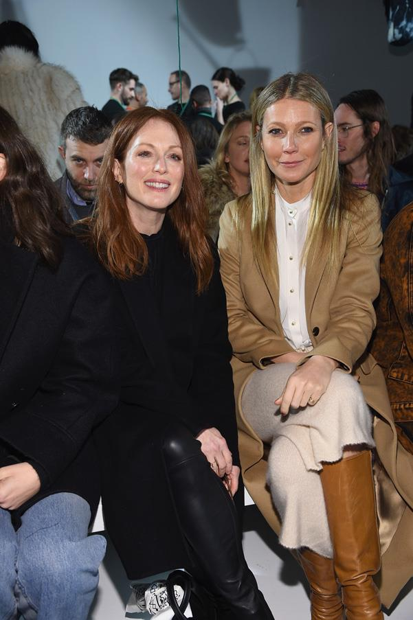 Julianne Moore and Gwyneth Paltrow at Calvin Klein