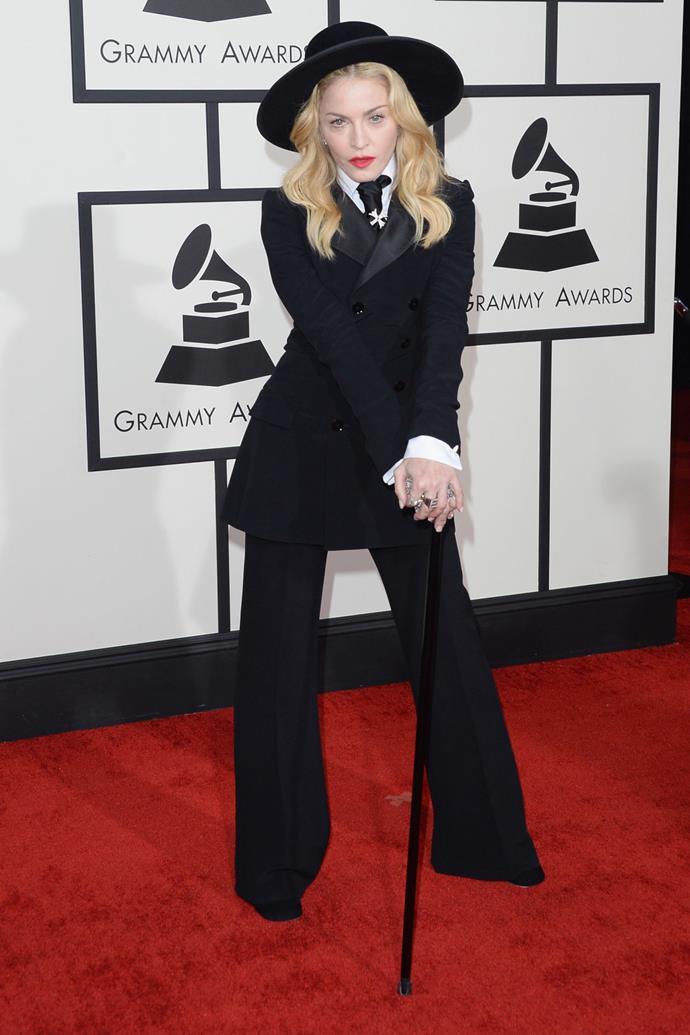 <strong>Madonna in Ralph Lauren, 2014</strong>