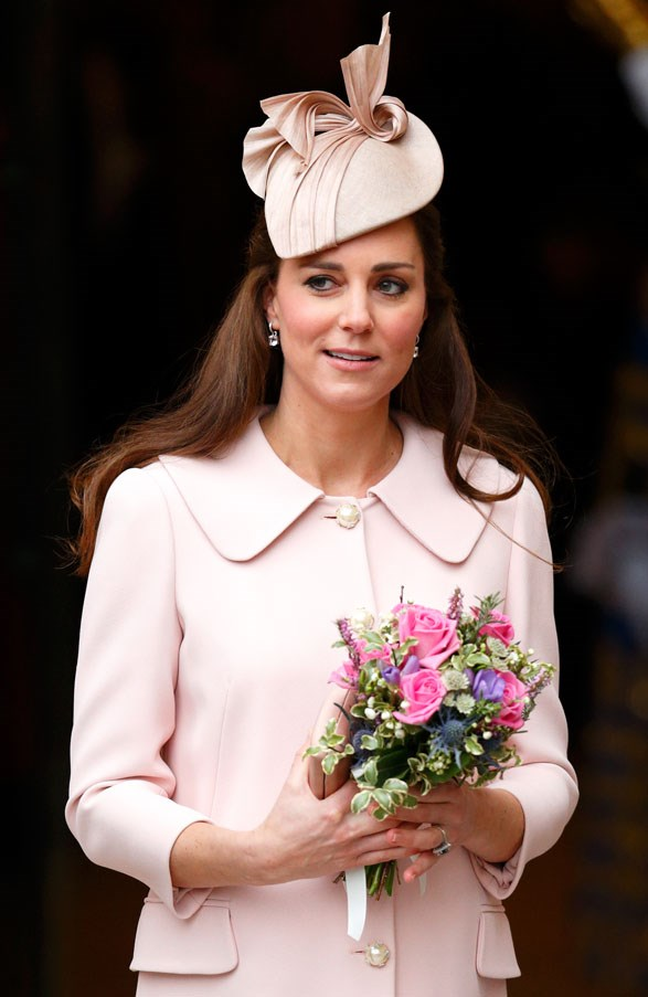 <strong>March, 2015</strong> <br><br> Kate opted for her signature minimalist look at the Commonwealth Observance Service.