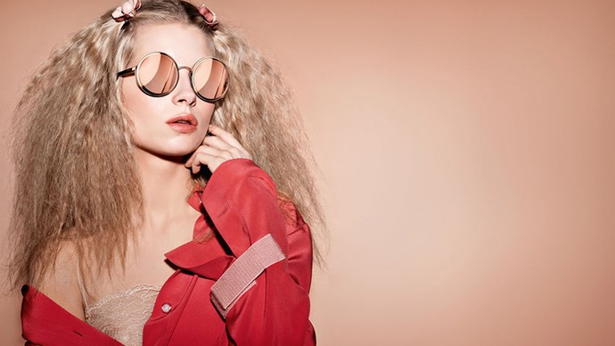 <strong>Chanel Eyewear</strong> <br><br> Modelled by Lottie Moss, shot by Karl Lagerfeld.