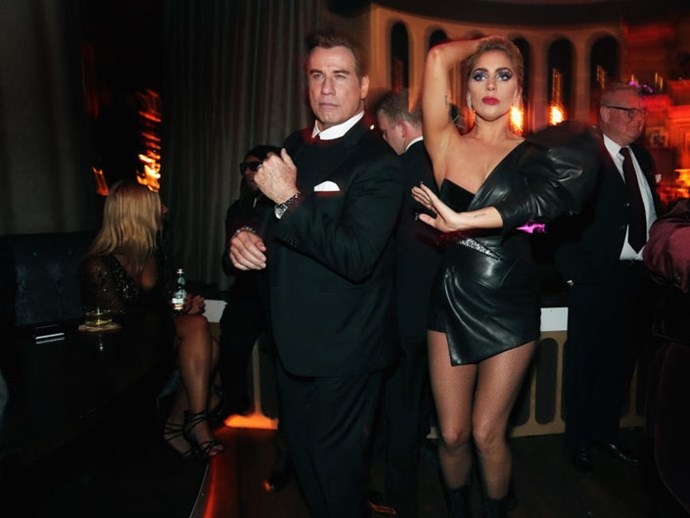 John Travolta and Lady Gaga Grammy After Party