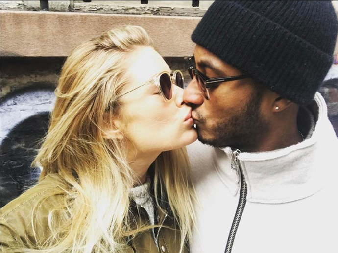 "<strong>Doutzen Kroes</strong> <BR><BR> ""Love of my life @sunneryjames ❤ #happyvalentinesday"""