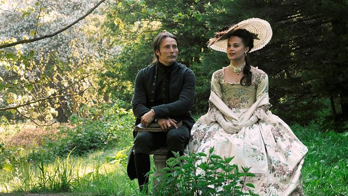 Although not a huge budget film, 2012's <em>A Royal Affair</em> had its fair share of gorgeous costume moments, especially for Alicia Vikander's Caroline Mathilde.