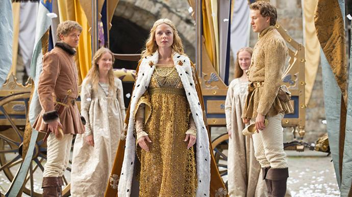 <em>The White Queen</em> may not have maintained its momentum through the entire series, but it definitely had the occasional win, especially Queen Elizabeth's golden coronation gown.