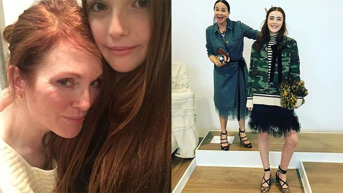"""<strong>Liv Freundlich</strong> <br><BR> <strong>Celebrity parentage:</strong> Julianne Moore and Bart Freundlich.<br><br> <strong>Her deal:</strong> Julianne Moore's 14-year-old mini-me is destined for a career down the runway (if she wants it), making her debut at J.Crew's autumn winter '17 presentation in New York overnight. <br><br> Images: Instagram <a href=""""https://www.instagram.com/mollyringwald/"""">@mollyringwald</a>"""