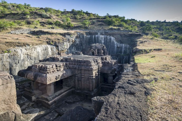 """<strong>3. Ellora Caves: Maharashtra, India</strong> <br><br> <a href=""""http://whc.unesco.org/en/list/243"""">Ellora </a>features more than 100 rock-cut caves, 34 of which you can visit today, that date back to 600 to 1000 A.D. and served as Buddhist, Hindu and Jainist temples and monasteries."""