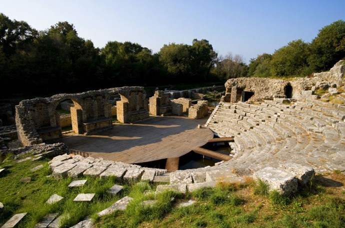 """<strong>7. Butrint: Vlorë, Albania</strong> <br><br> <a href=""""http://www.butrintfoundation.co.uk/about2"""">Butrint </a>is an impressive archaeological site located on the southwest coast of Albania, where an ancient city dating back to 800 B.C. once stood. The city was eventually abandoned during the Middle Ages after it flooded, but excavations began in 1994, so you can visit the ruins of the Greek, Roman, Byzantine and Venetian civilisations that lived there over hundreds of years."""
