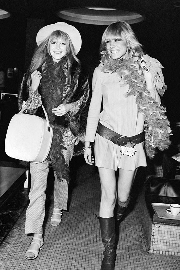 Marianne Faithfull and Anita Pallenberg, 1967